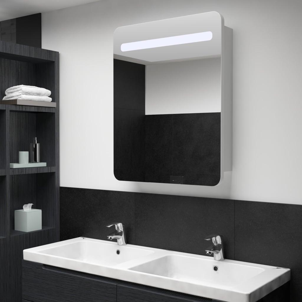 vidaXL LED kúpeľňová zrkadlová skrinka 60x11x80 cm