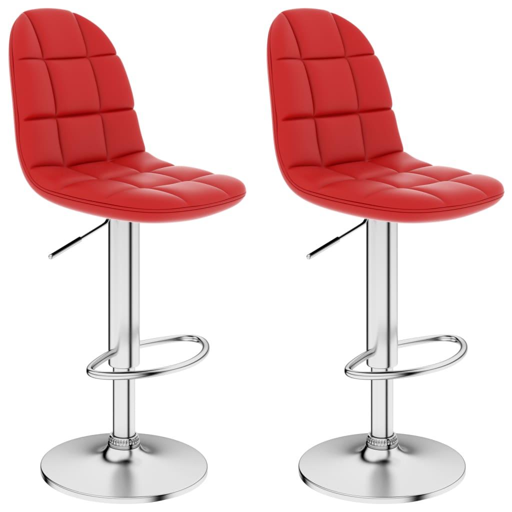 vidaXL Barové stoličky 2 ks, vínovo červené, umelá koža