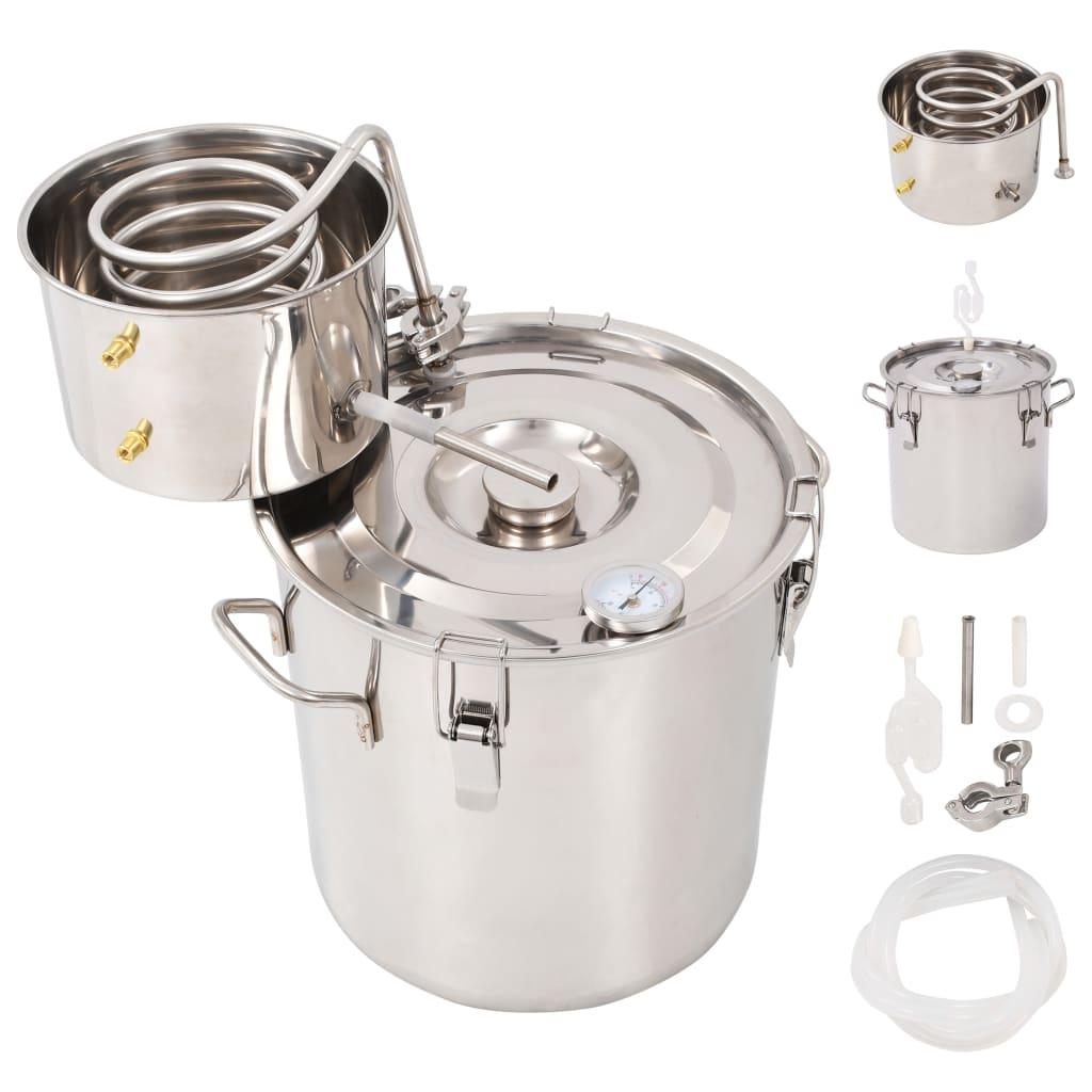 vidaXL Destilačný prístroj na pálenie alkoholu nerezová oceľ 18 l