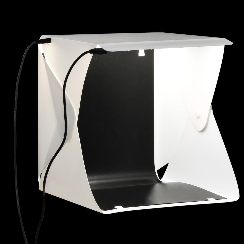 vidaXL Skladacie LED svetelný stan 23x25x25 cm biele
