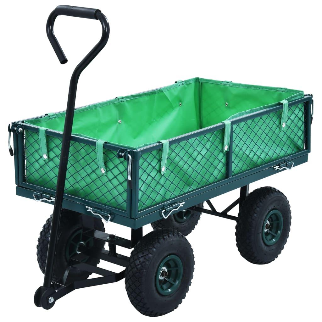 vidaXL Záhradný ručný vozík zelený 250 kg