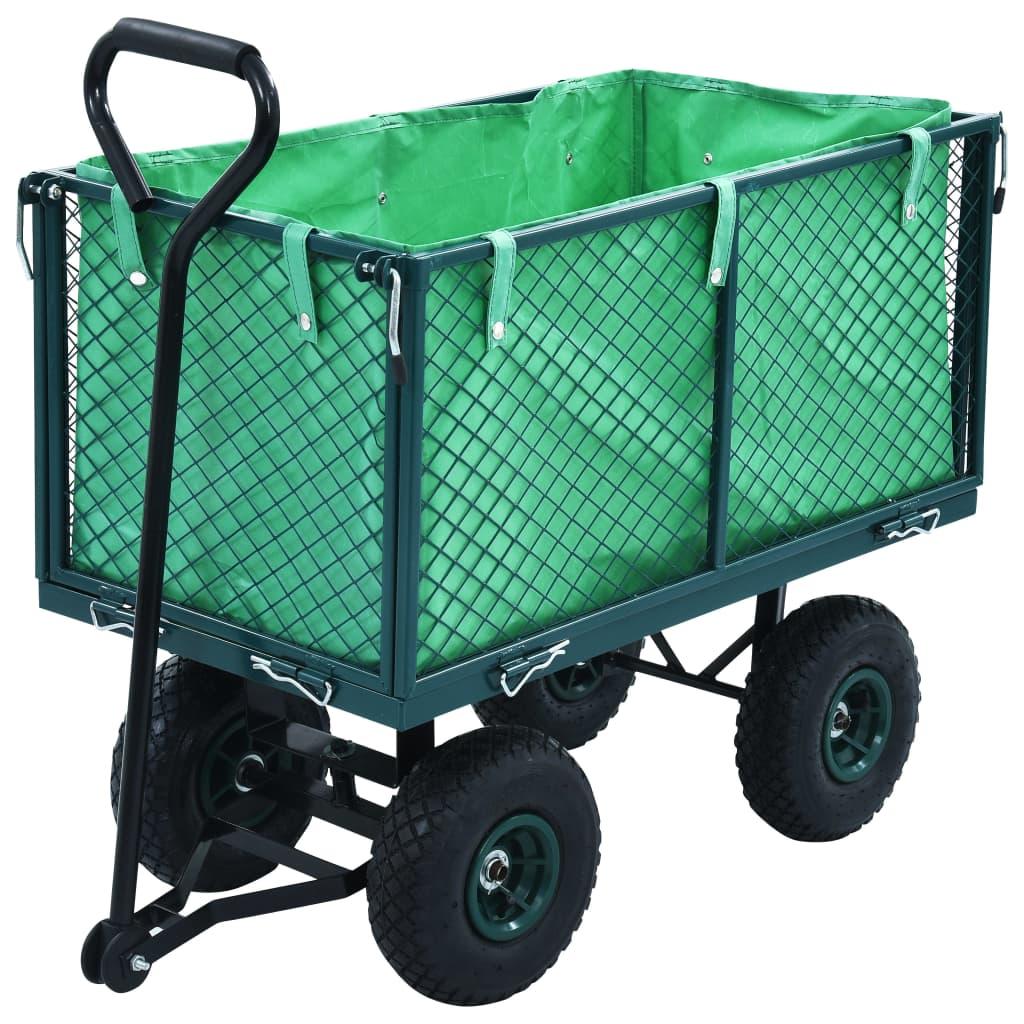 vidaXL Záhradný ručný vozík zelený 350 kg