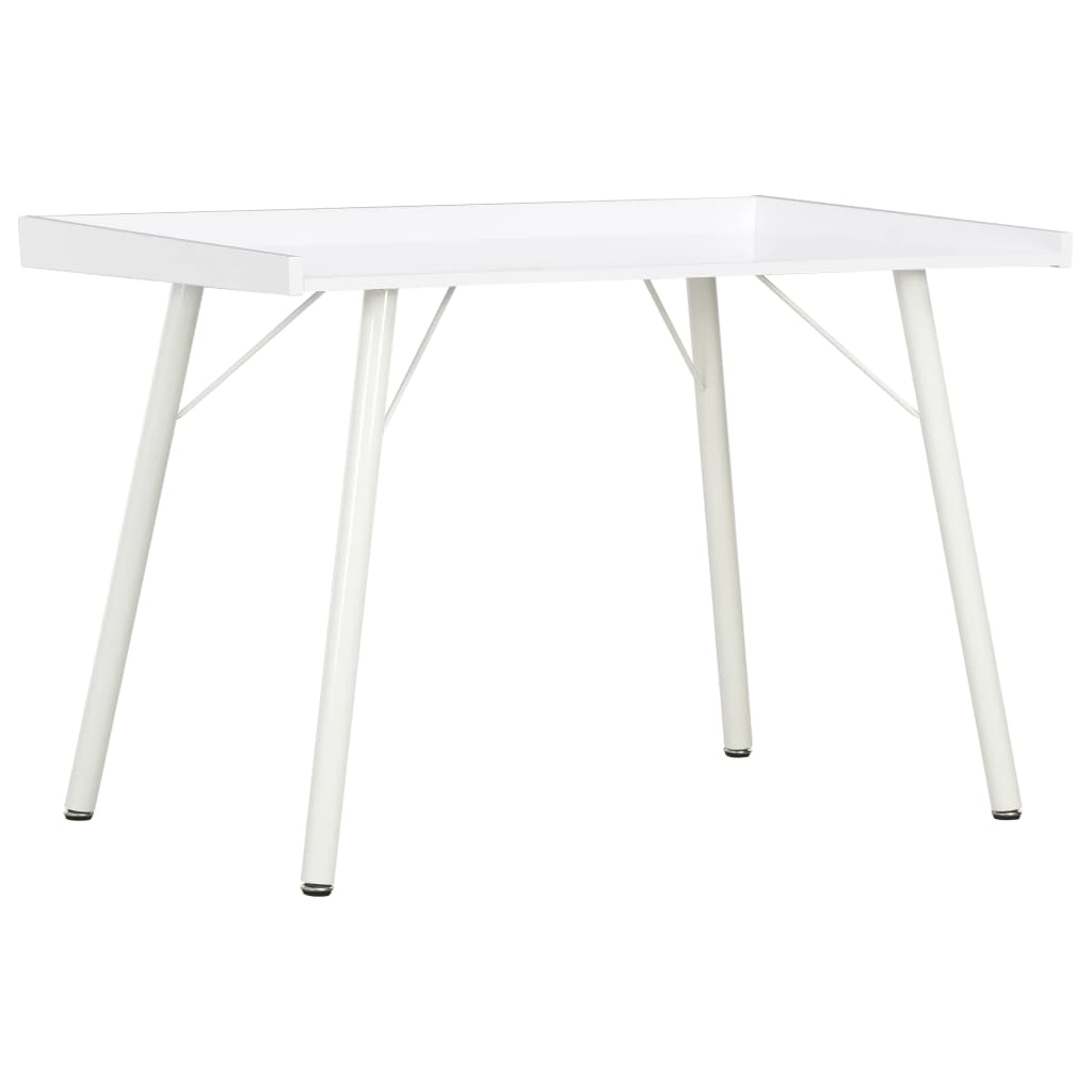vidaXL Stôl biely 90x50x79 cm