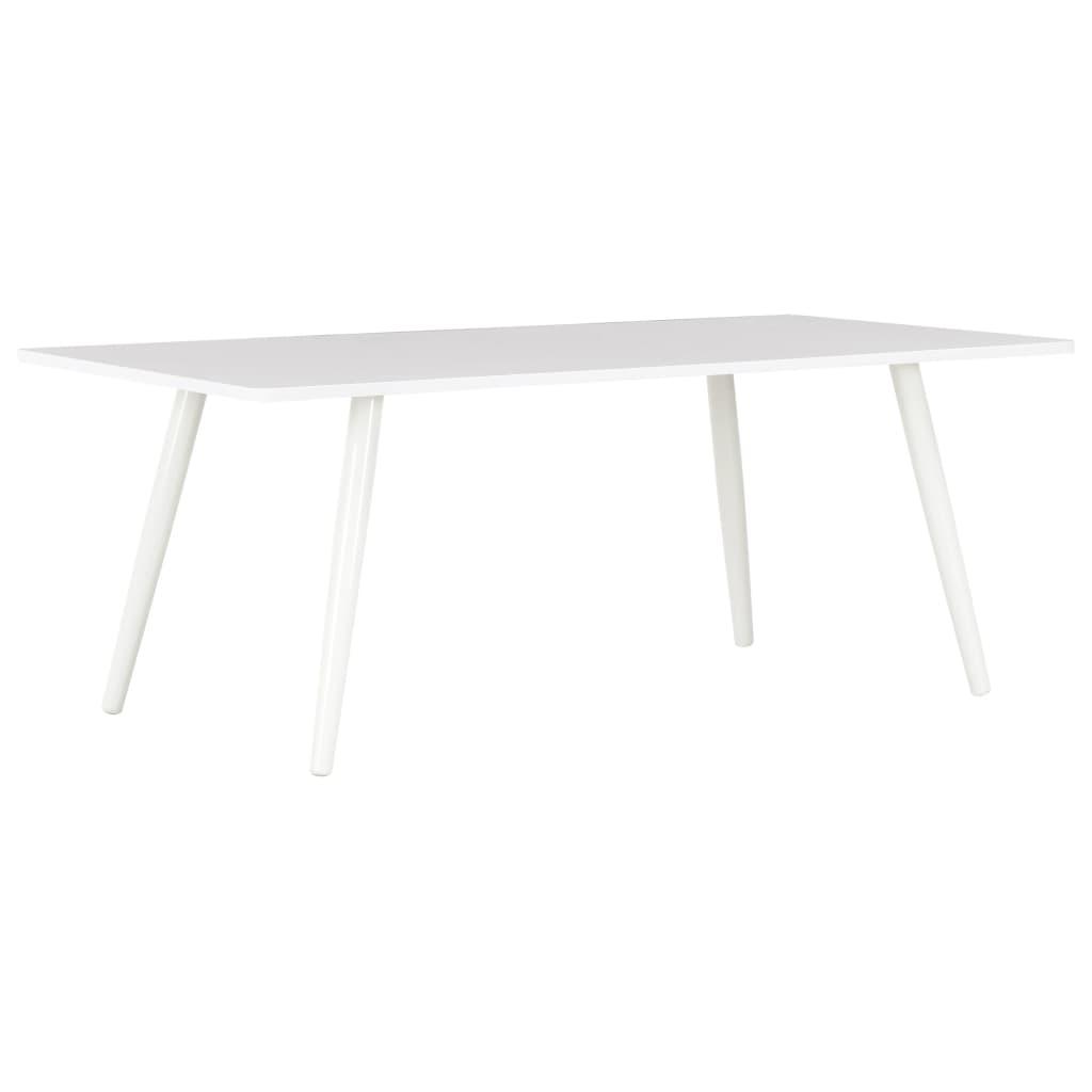 vidaXL Konferenčný stolík, biely 120x60x46 cm