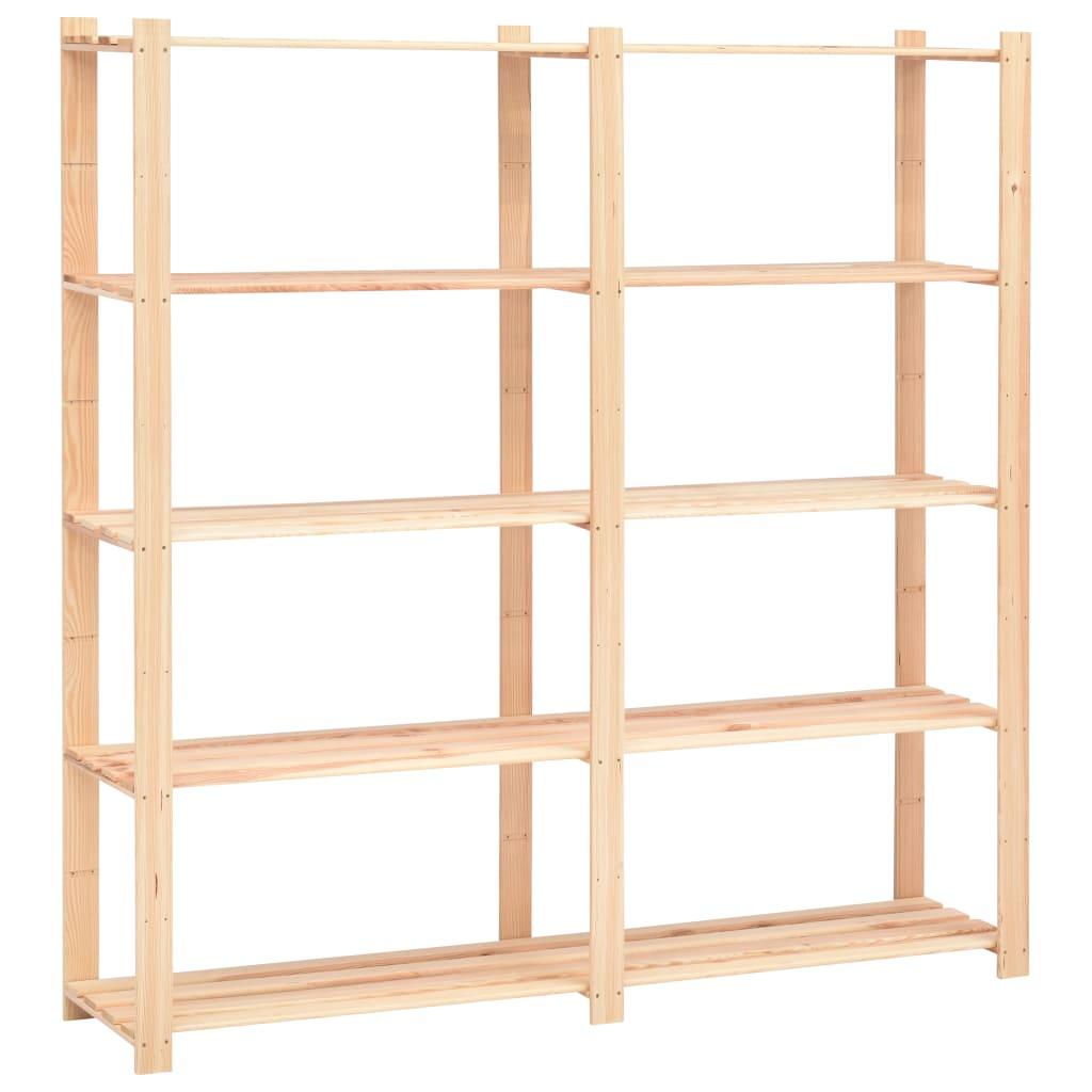 vidaXL Úložný regál s 5 policami 170x38x170 cm FSC borovicové drevo