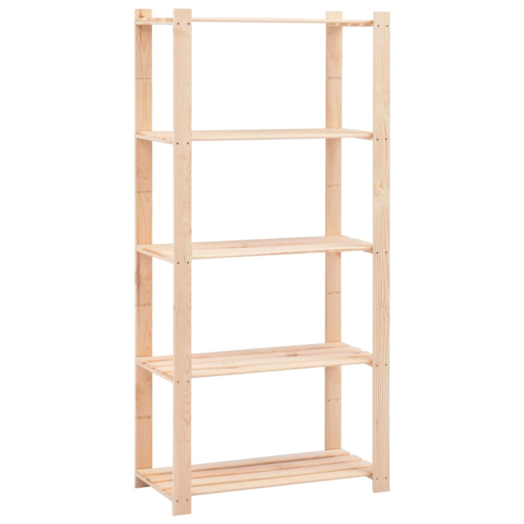 vidaXL Úložný regál s 5 policami 80x38x170 cm FSC borovicové drevo