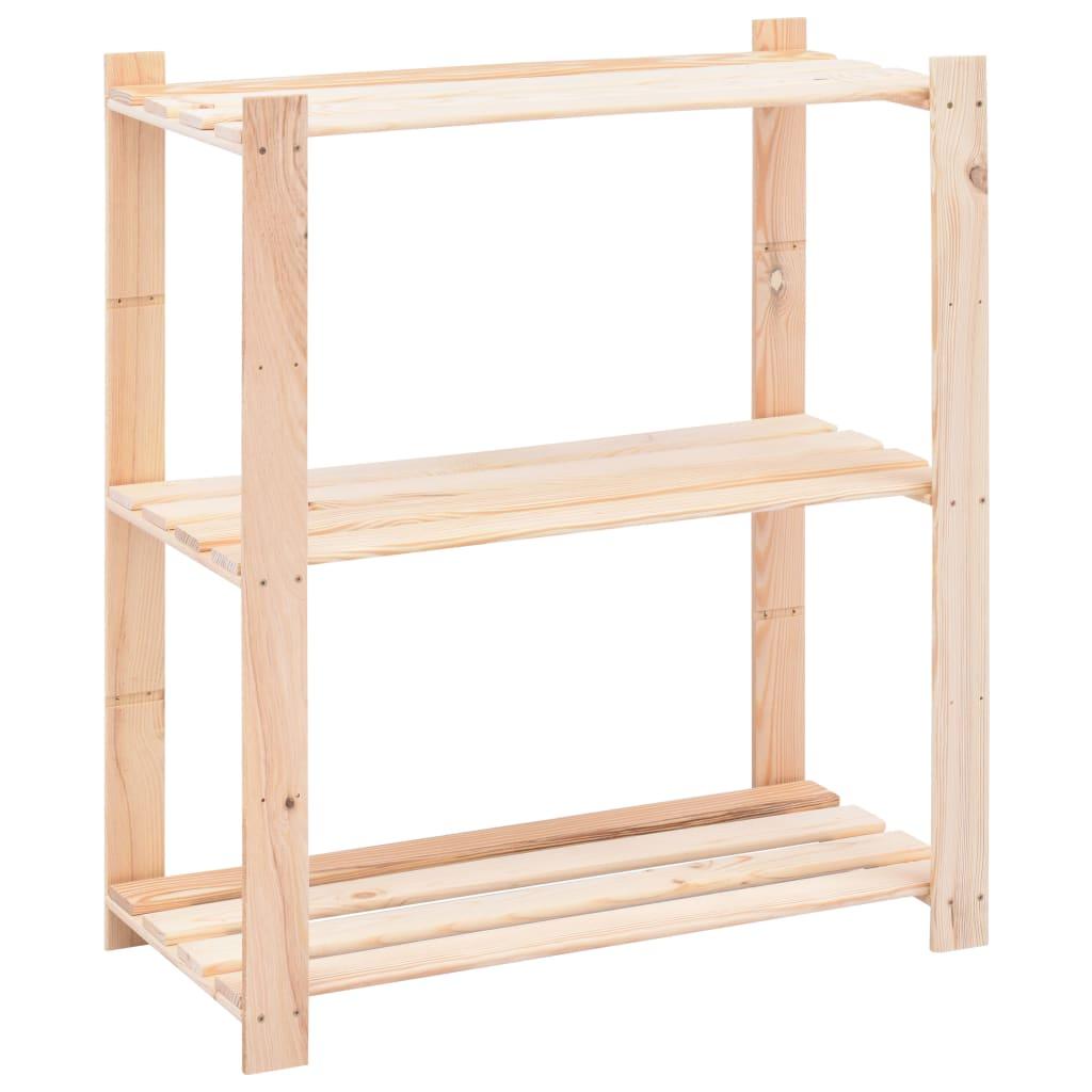 vidaXL Úložný regál s 3 policami 80x38x90 cm FSC borovicové drevo