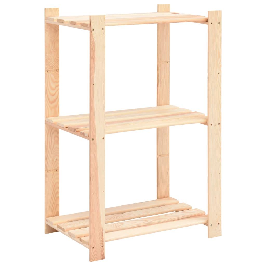 vidaXL Úložný regál s 3 policami 60x38x90 cm FSC borovicové drevo