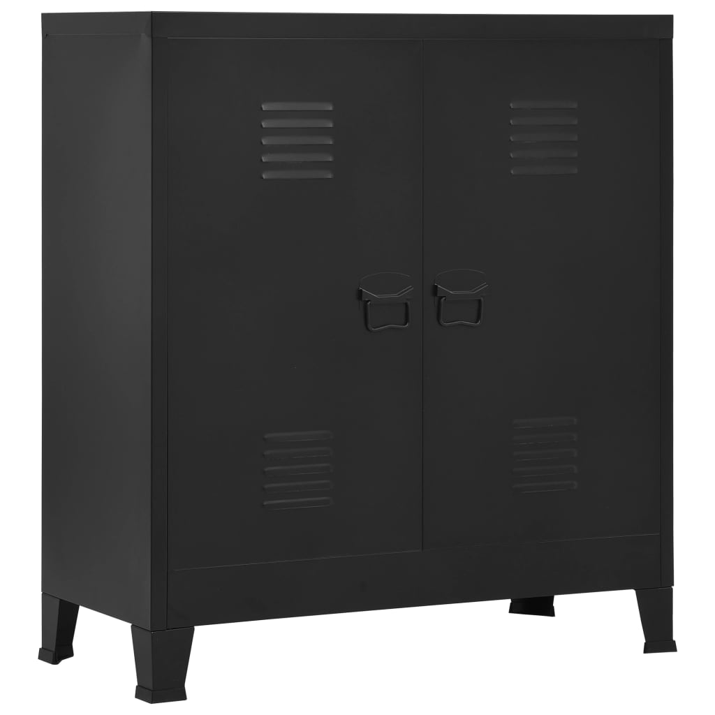 vidaXL Kartotéka priemyselná čierna 90x40x100 cm oceľová