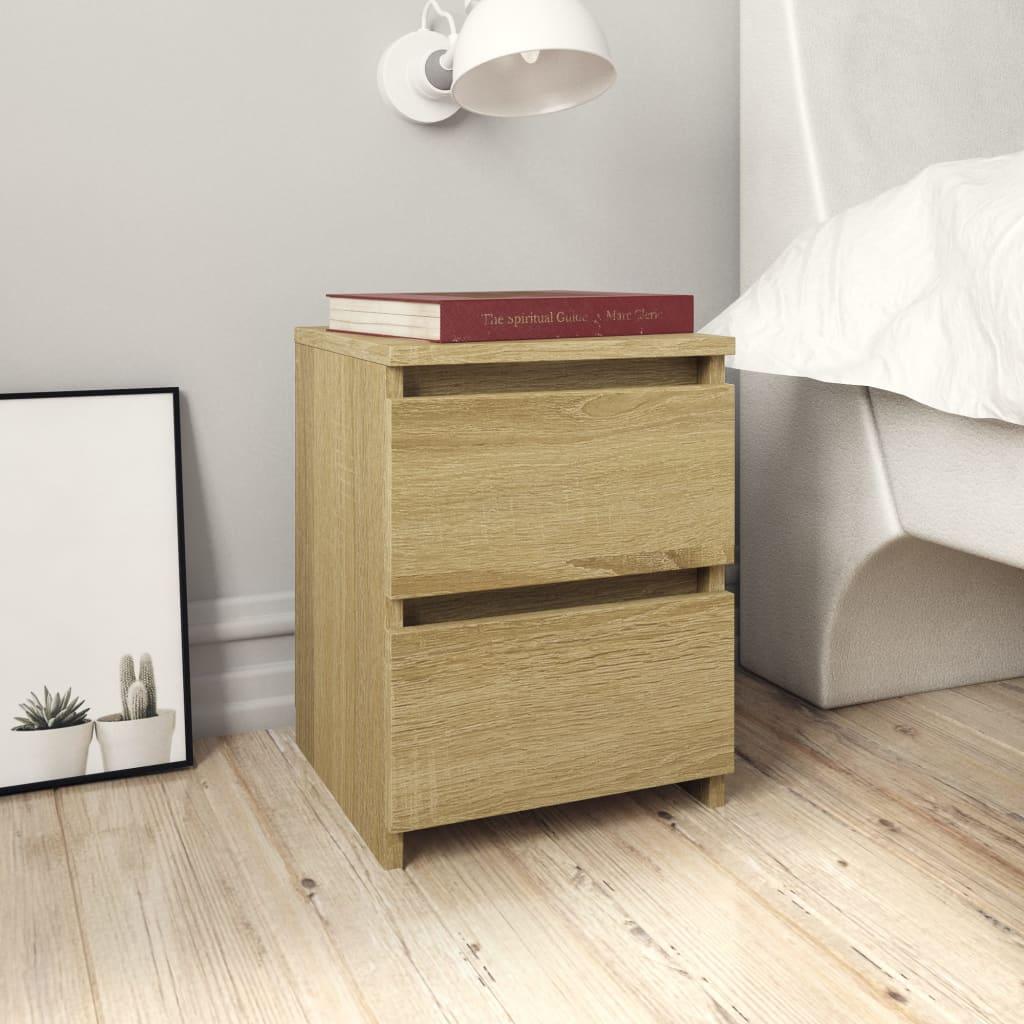 vidaXL Nočné stolíky 2 ks dub sonoma 30x30x40 cm drevotrieska