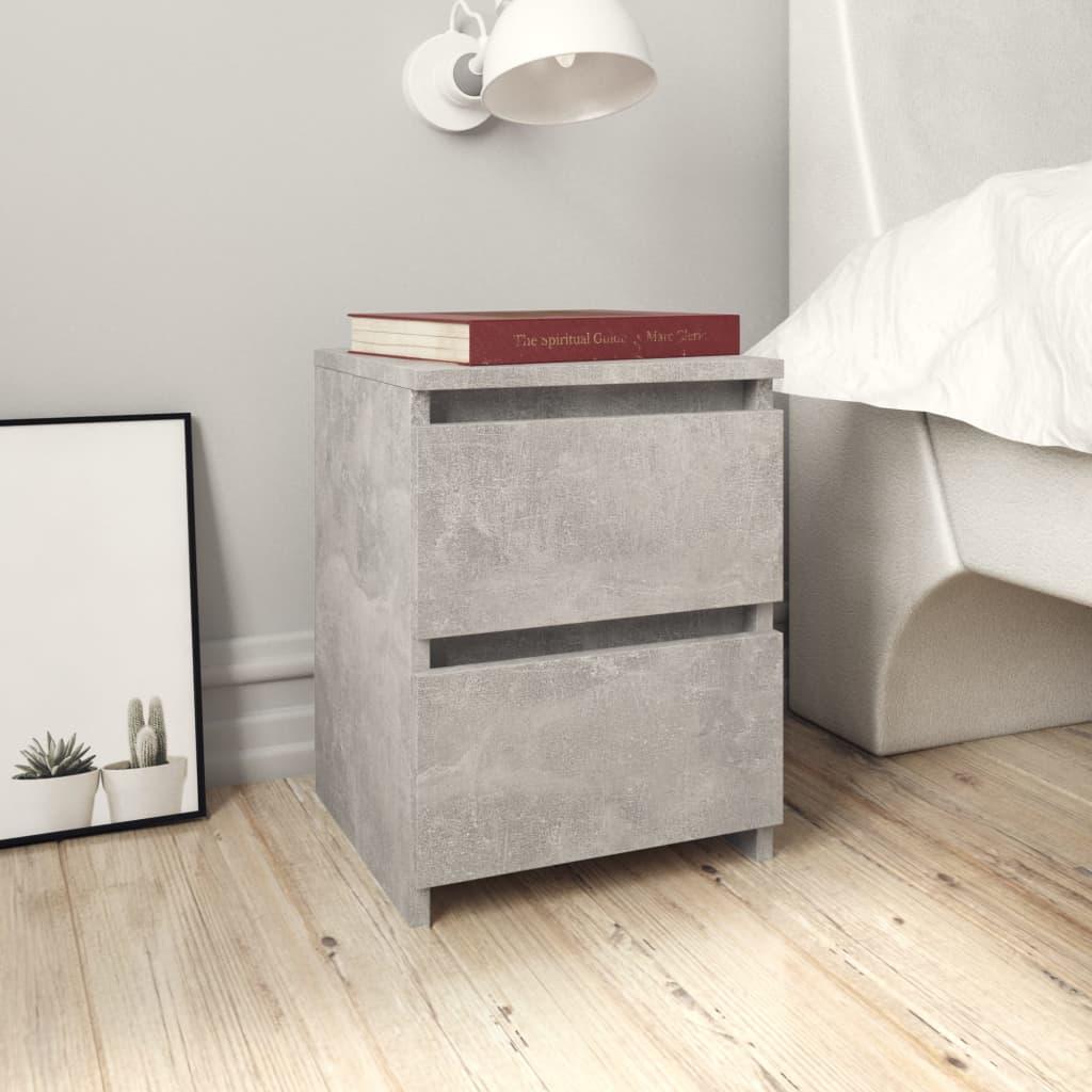 vidaXL Nočný stolík betónovo-sivý 30x30x40 cm drevotrieska