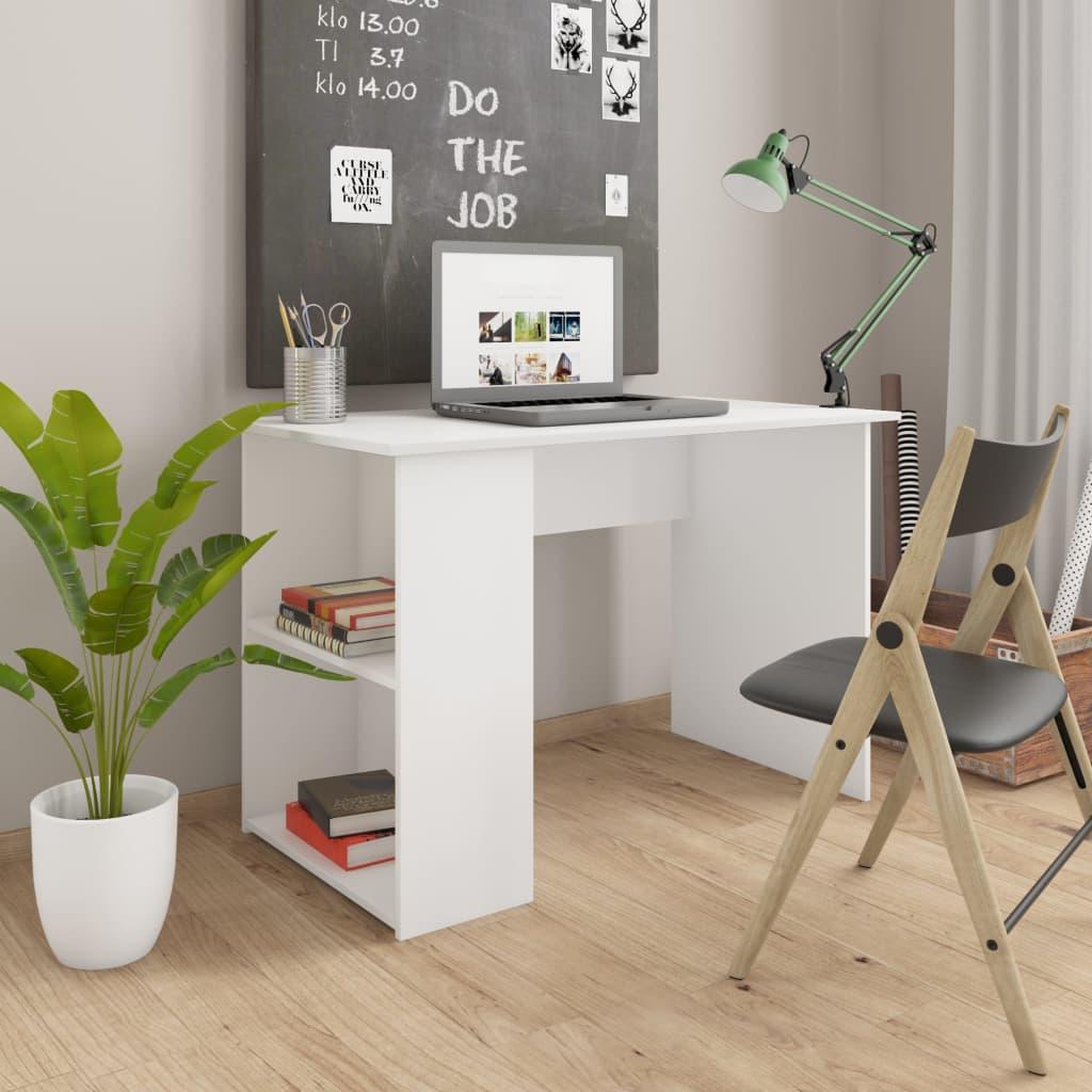 vidaXL Stôl biely 110x60x73 cm drevotrieska