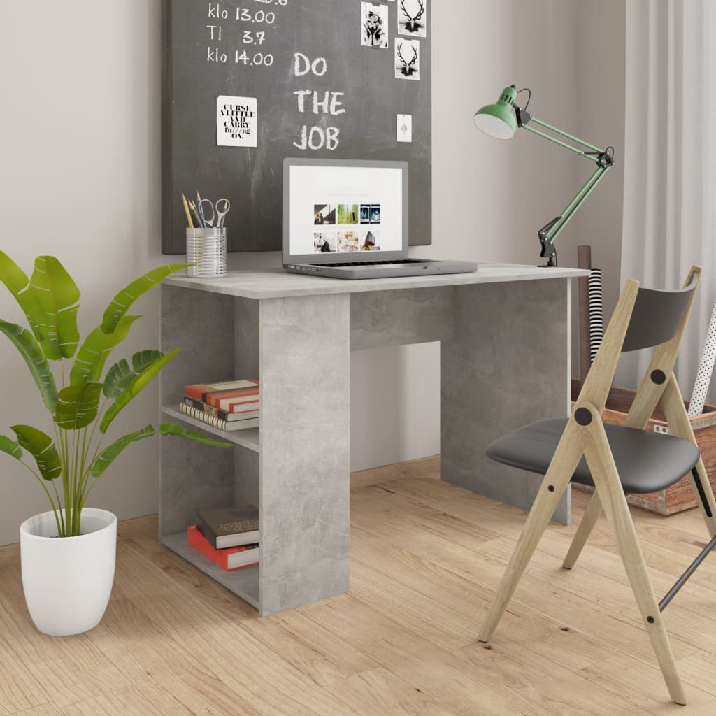 vidaXL Stôl betónovo-sivý 110x60x73 cm drevotrieska