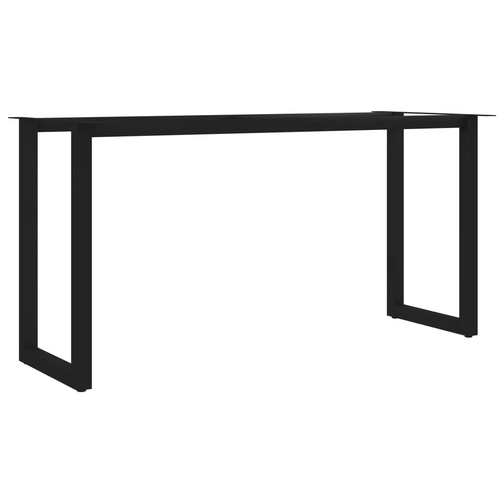 vidaXL Stolové nohy na jedálenský stôl, rám v tvare O 140x60x72 cm