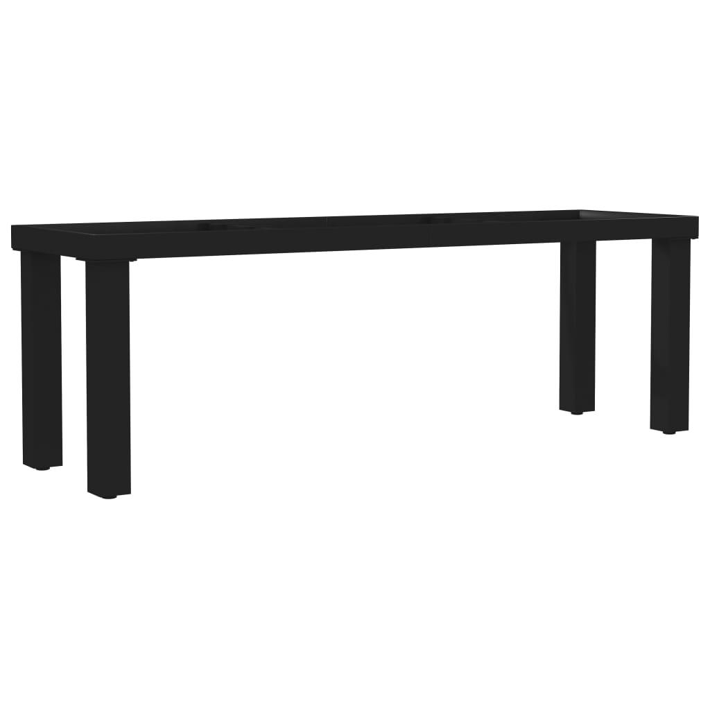 vidaXL Nohy na lavičku, rám v tvare I 125x36x42 cm