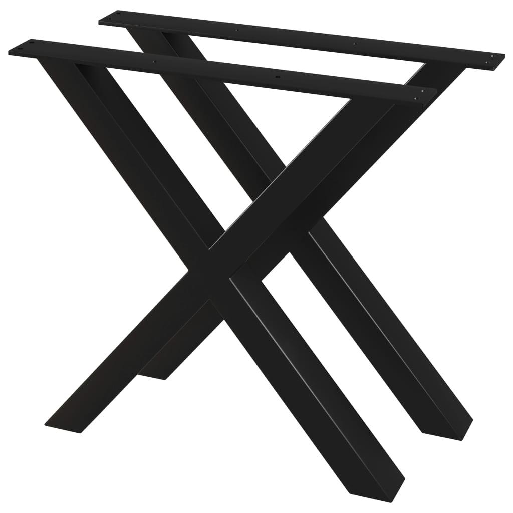 vidaXL Stolové nohy na jedálenský stôl 2 ks, rám v tvare X 80x72 cm