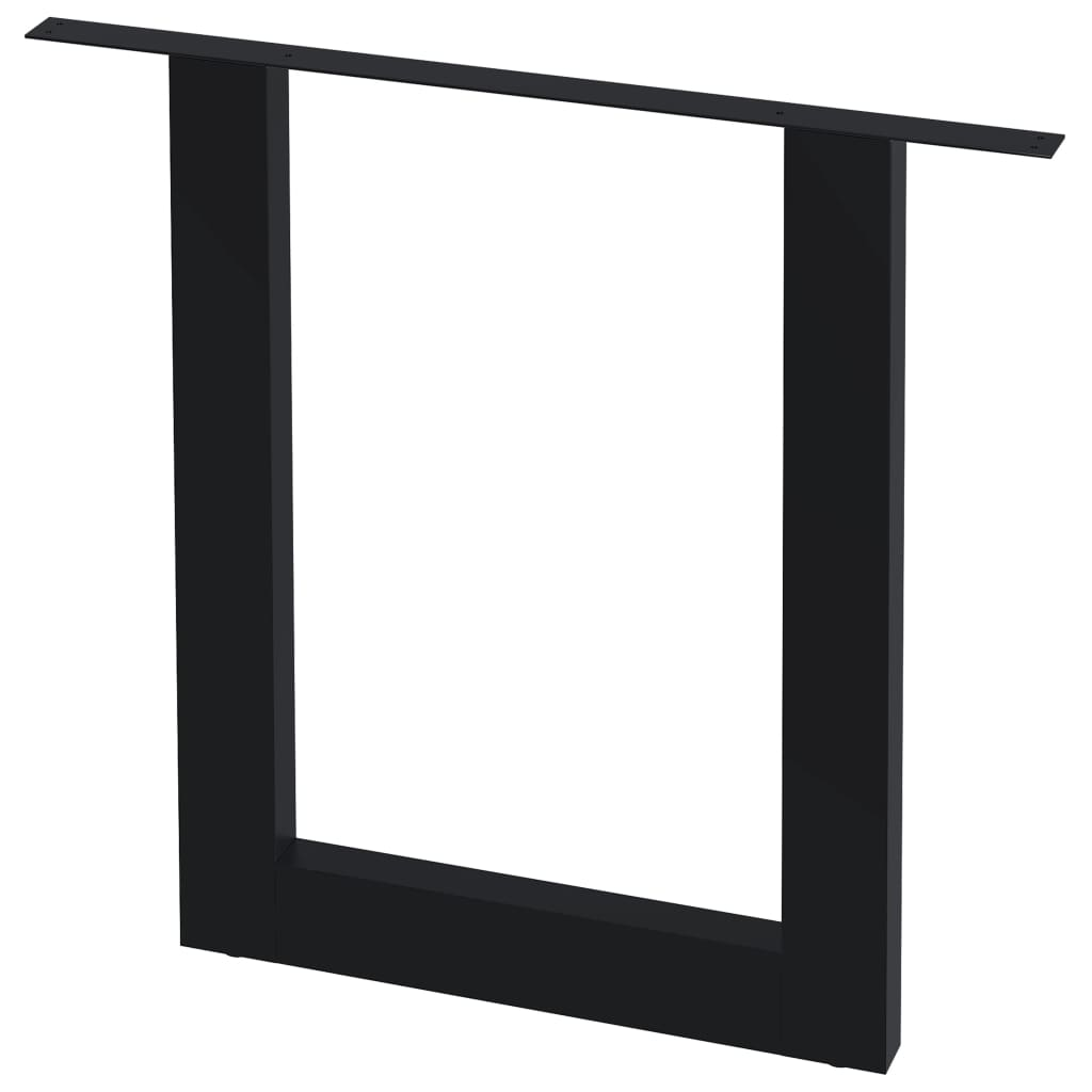 vidaXL Stolové nohy na jedálenský stôl 2 ks, rám v tvare O 80x72 cm
