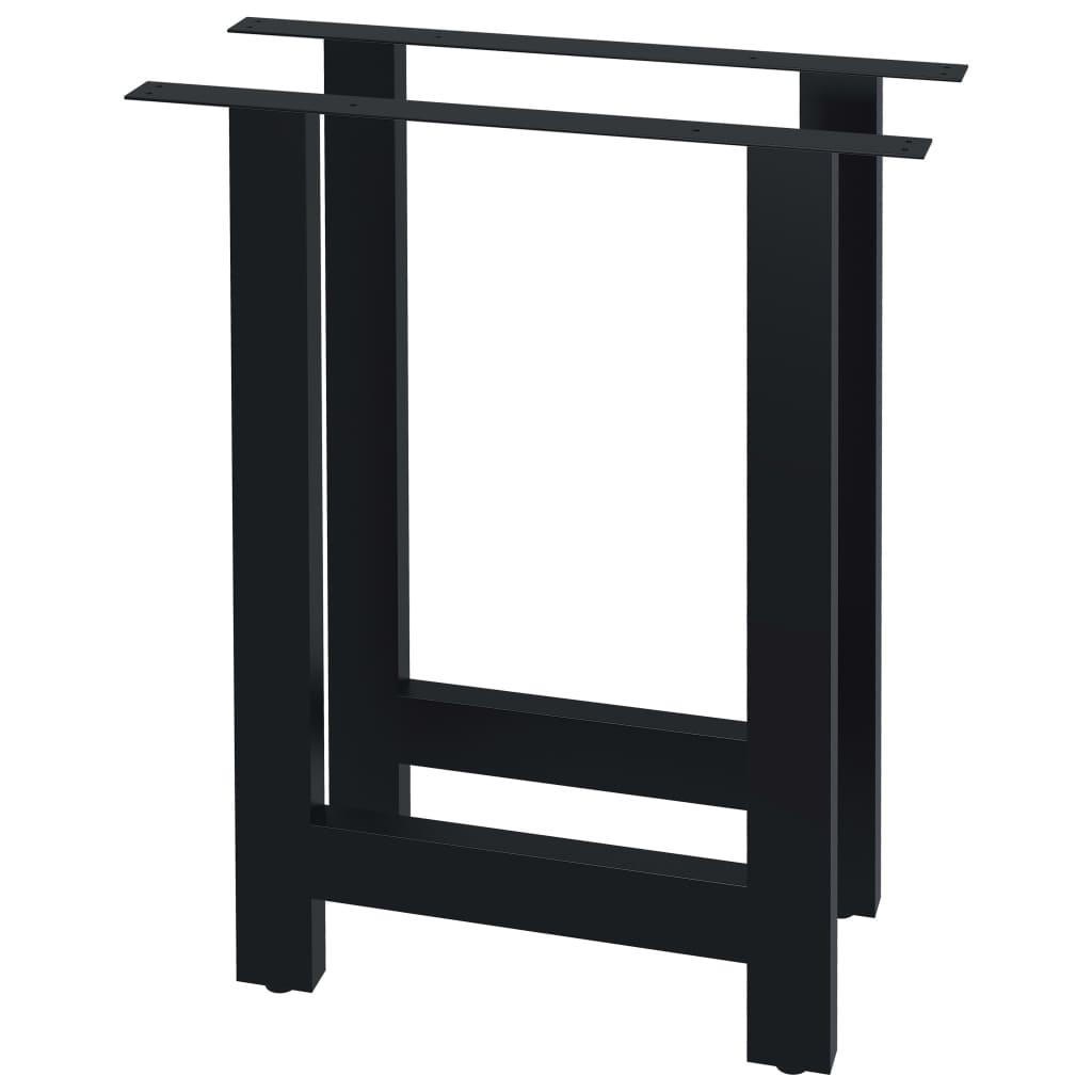 vidaXL Stolové nohy na jedálenský stôl 2 ks, rám v tvare H 60x72 cm