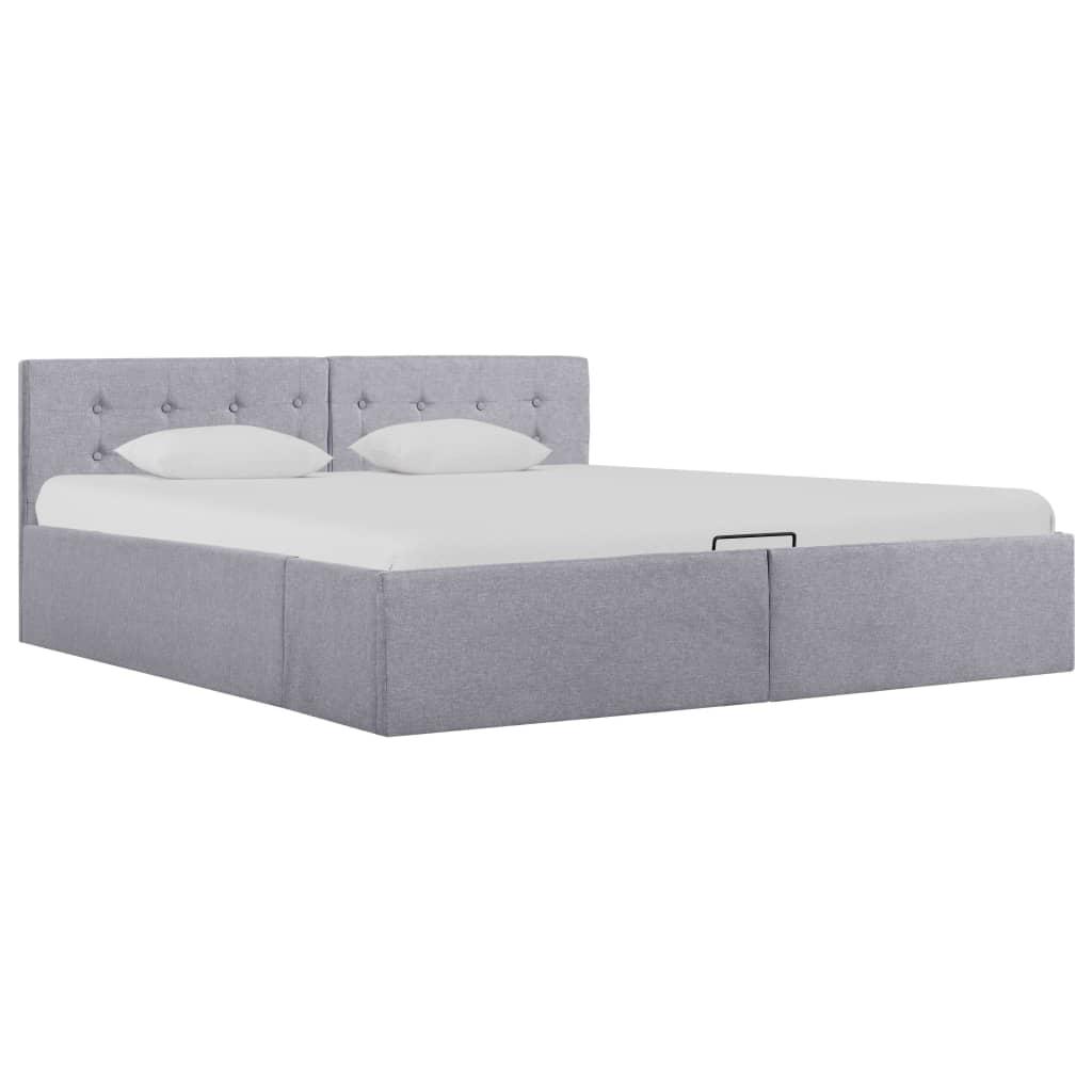 vidaXL Hydraulický posteľný rám+úložný priestor, látka 160x200 cm