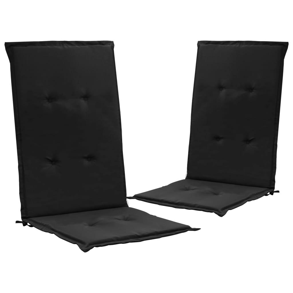 vidaXL Podložky na záhradné stoličky 2 ks, čierne 120x50x3 cm