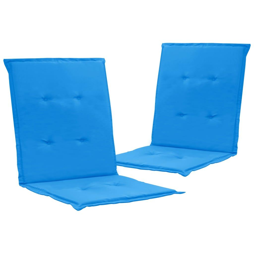 vidaXL Podložky na záhradné stoličky 2 ks modré 100x50x3 cm
