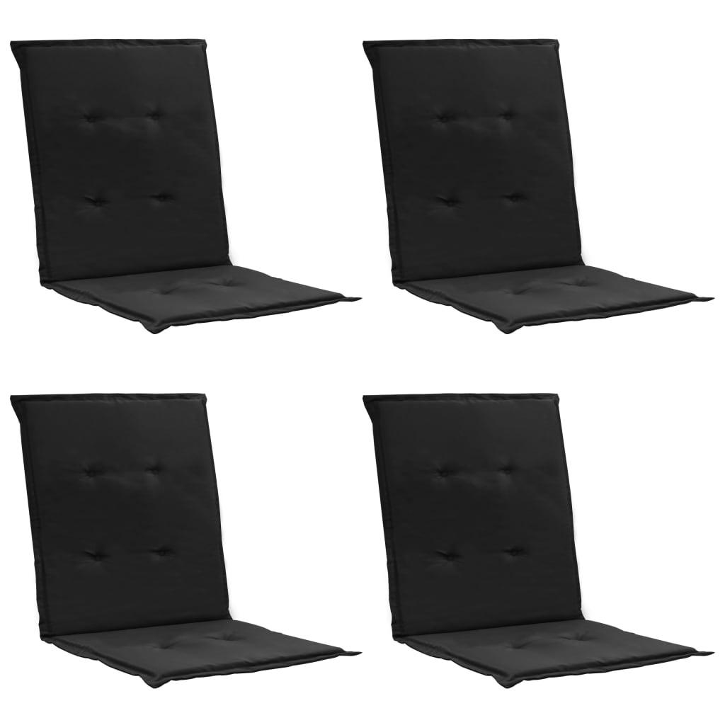 vidaXL Podložky na záhradné stoličky 4 ks čierne 100x50x3 cm