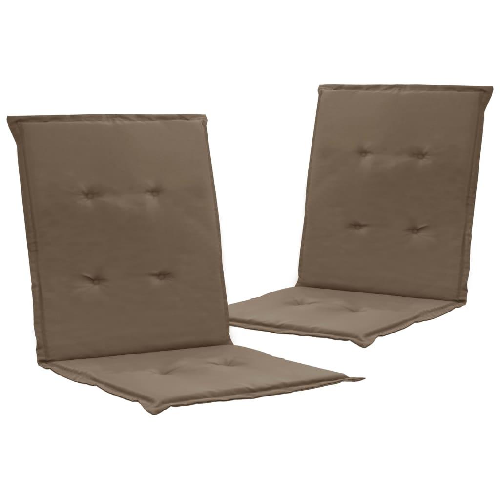 vidaXL Podložky na záhradné stoličky 2 ks sivohnedé 100x50x3 cm