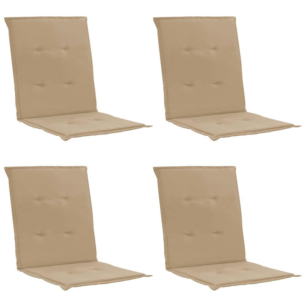 vidaXL Podložky na záhradné stoličky 4 ks béžové 100x50x3 cm