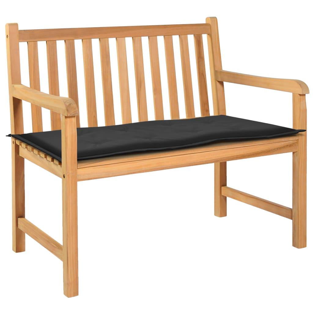 vidaXL Podložka na záhradnú lavičku, čierna 120x50x3 cm