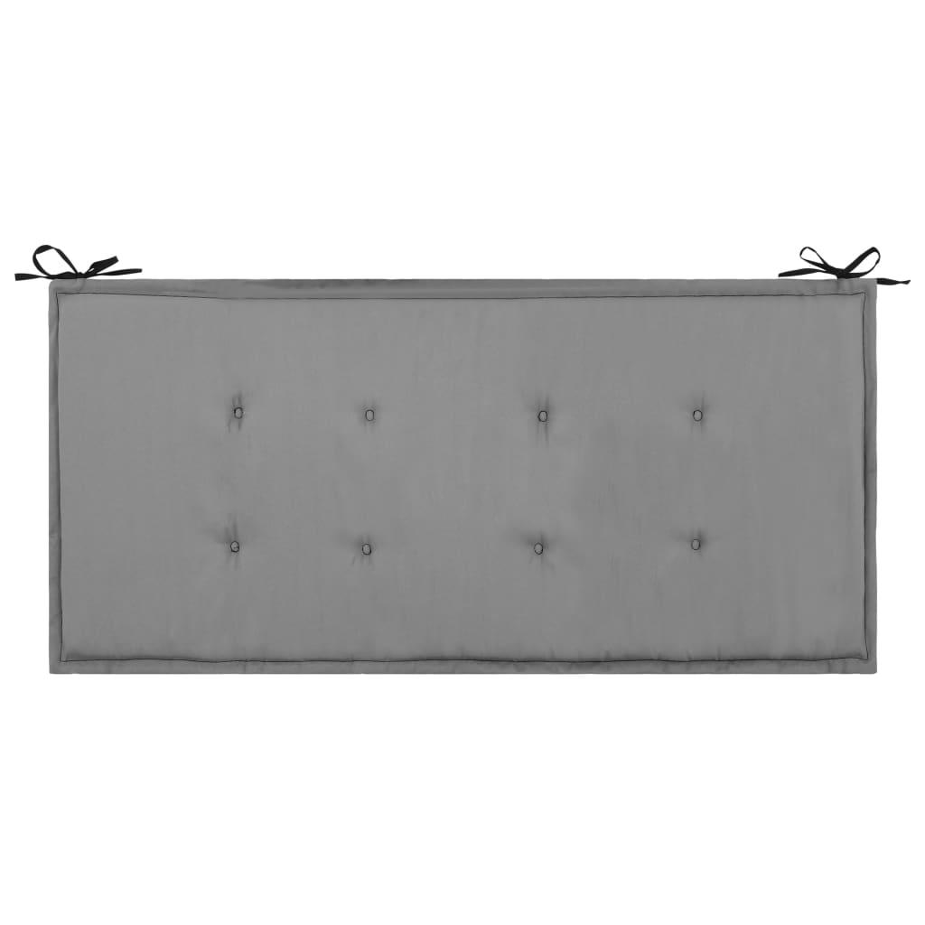 vidaXL Podložka na záhradnú lavičku, čierno sivá 100x50x3 cm