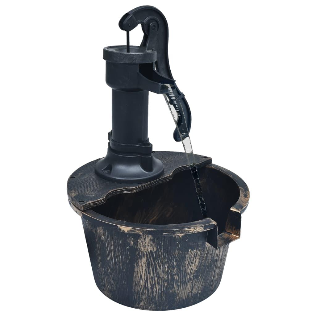 vidaXL Záhradná fontána s vedrom a čerpadlom