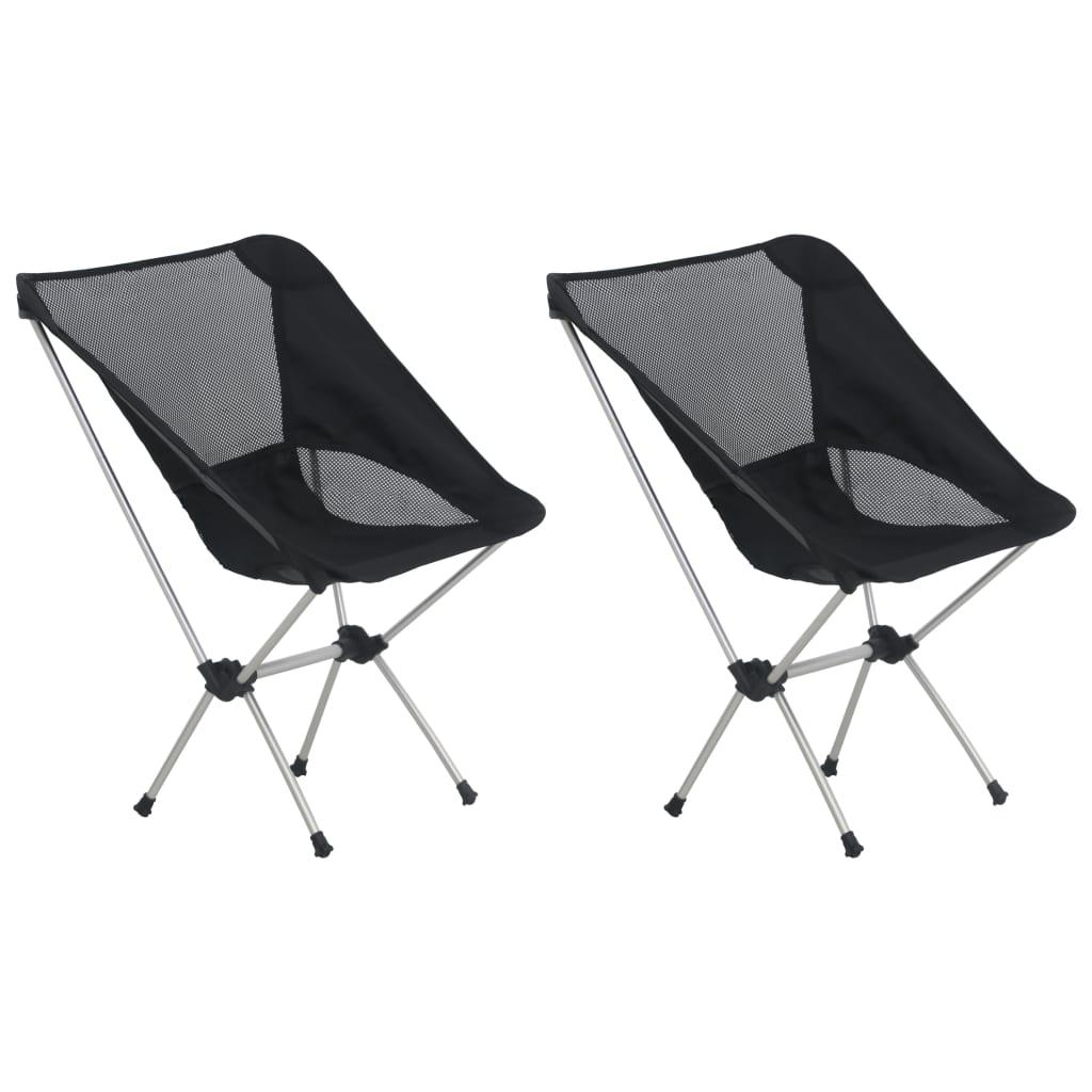 vidaXL Skladacie kempingové stoličky 2 ks s taškou 54x50x65 cm, hliník
