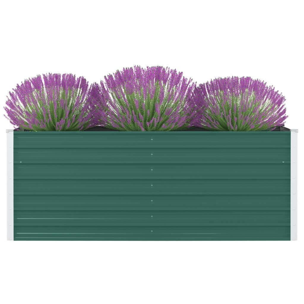 vidaXL Vyvýšený záhradný kvetináč zelený 160x80x45 cm pozinkovaná oceľ