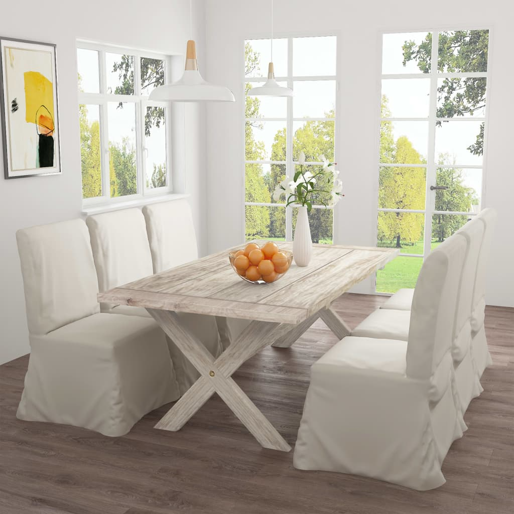 vidaXL Jedálenský stôl 200x100x75 cm teakový masív