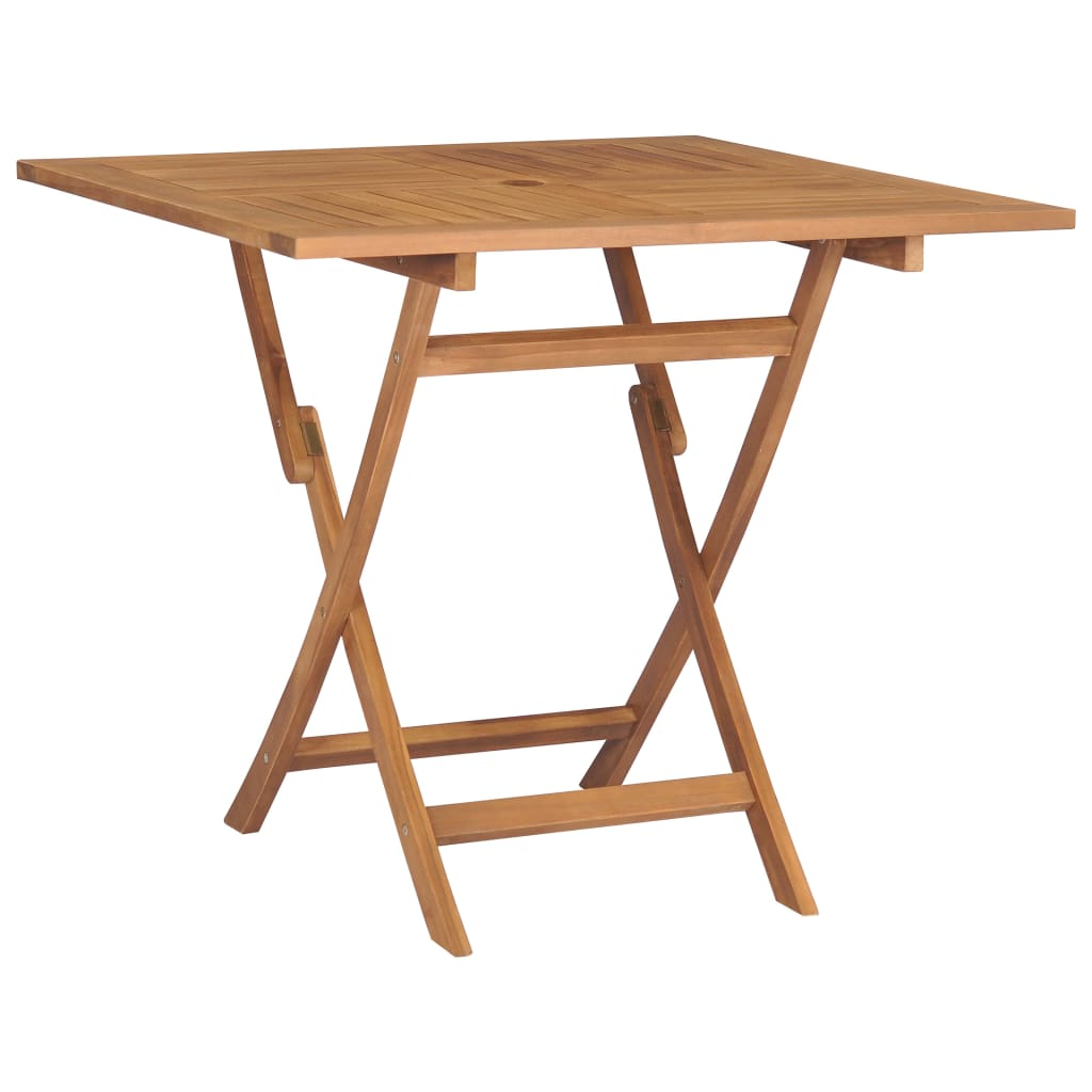 vidaXL Skladací záhradný stôl 85x85x76 cm, tíkový masív