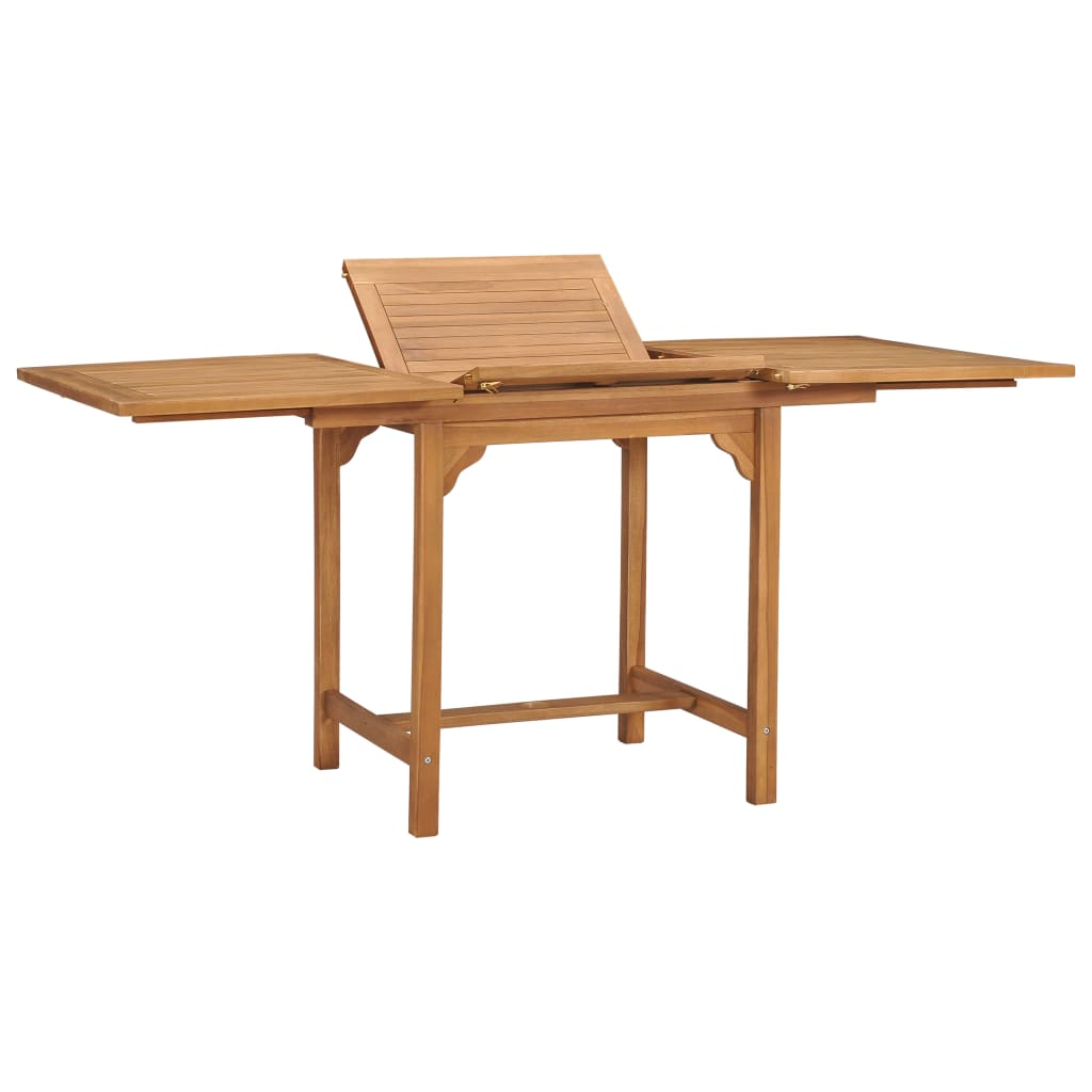 vidaXL Rozťahovací záhradný stôl (110-160)x80x75 cm, tíkový masív