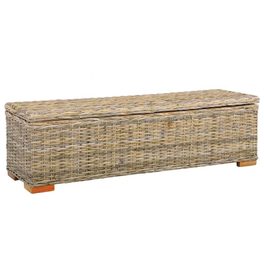 vidaXL Úložný box 120 cm kubu ratan a masívne mangovníkové drevo