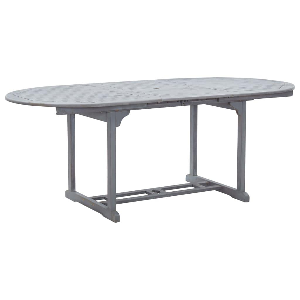 vidaXL Záhradný stôl, sivý 200x100x74 cm, akáciový masív