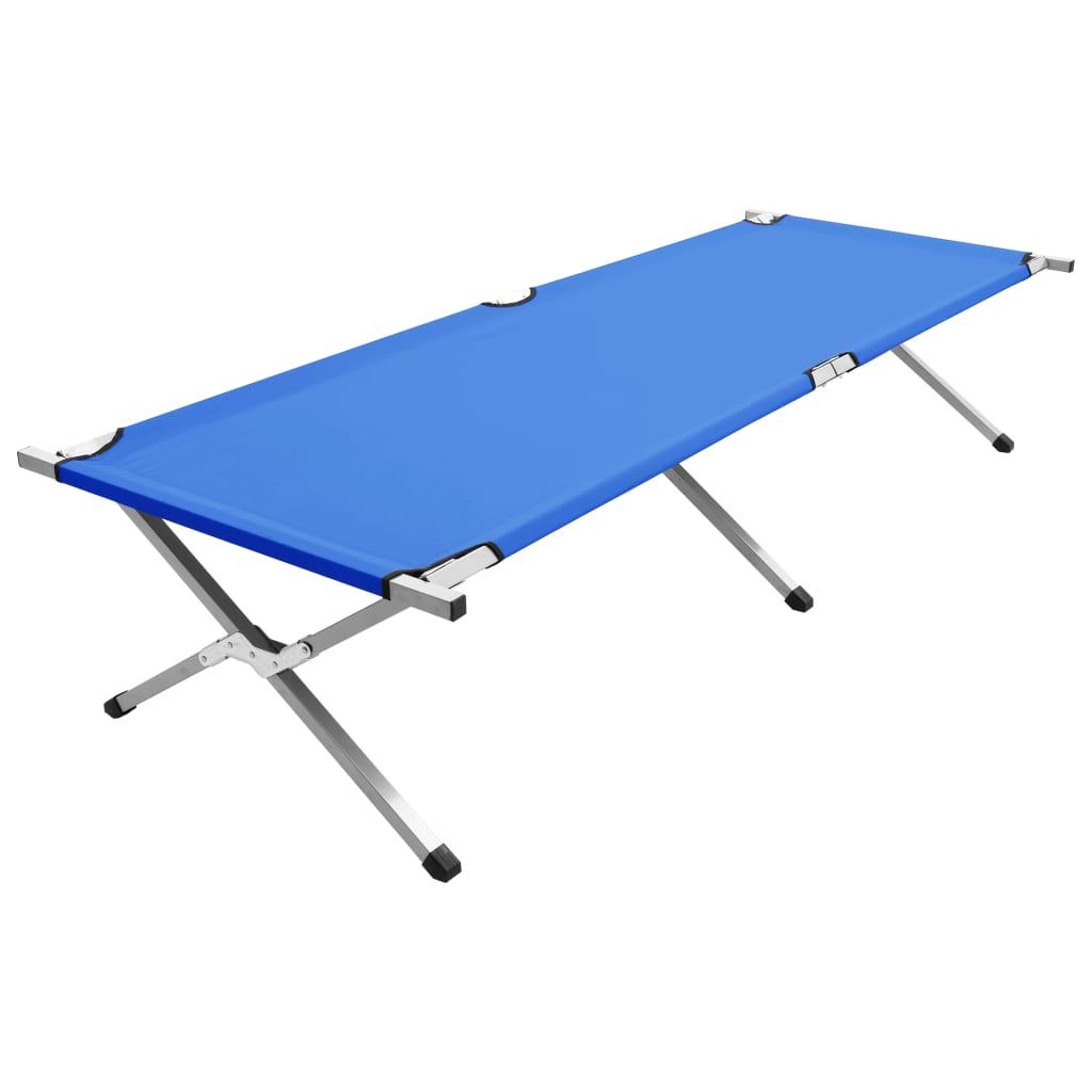 vidaXL Kempingové ležadlo 210x80x48 cm, XXL, modré
