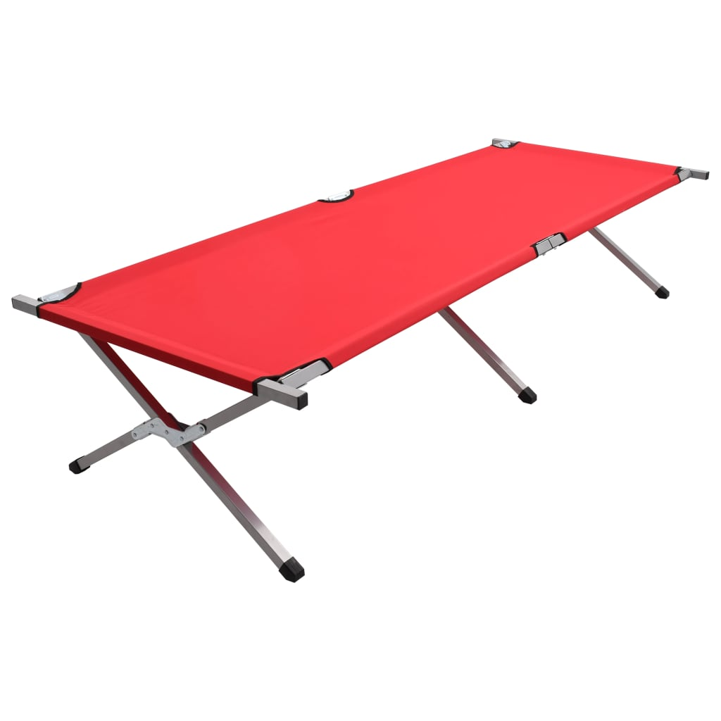 vidaXL Kempingové ležadlo 210x80x48 cm, XXL, červené