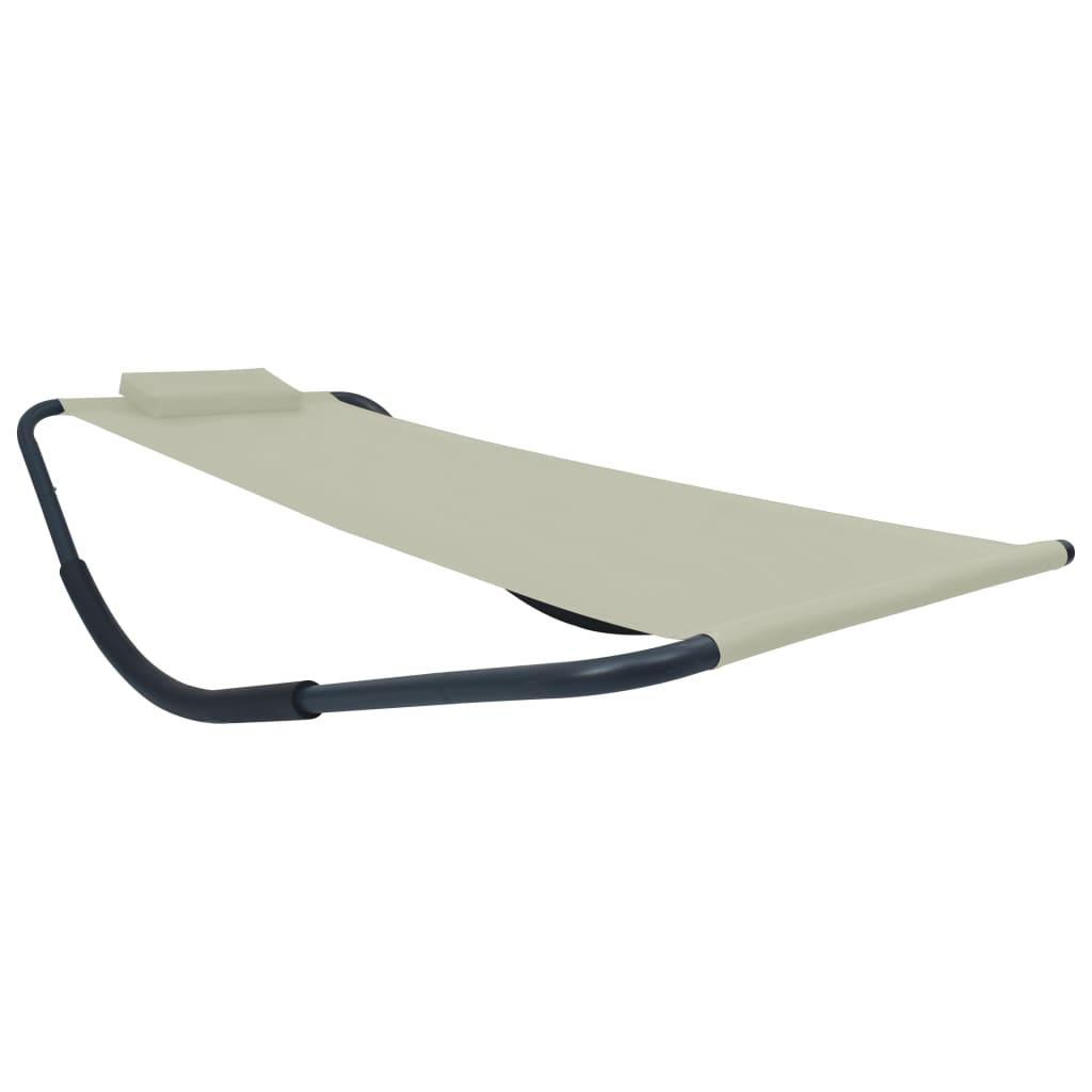 vidaXL Záhradná posteľ krémová 200x90 cm oceľová