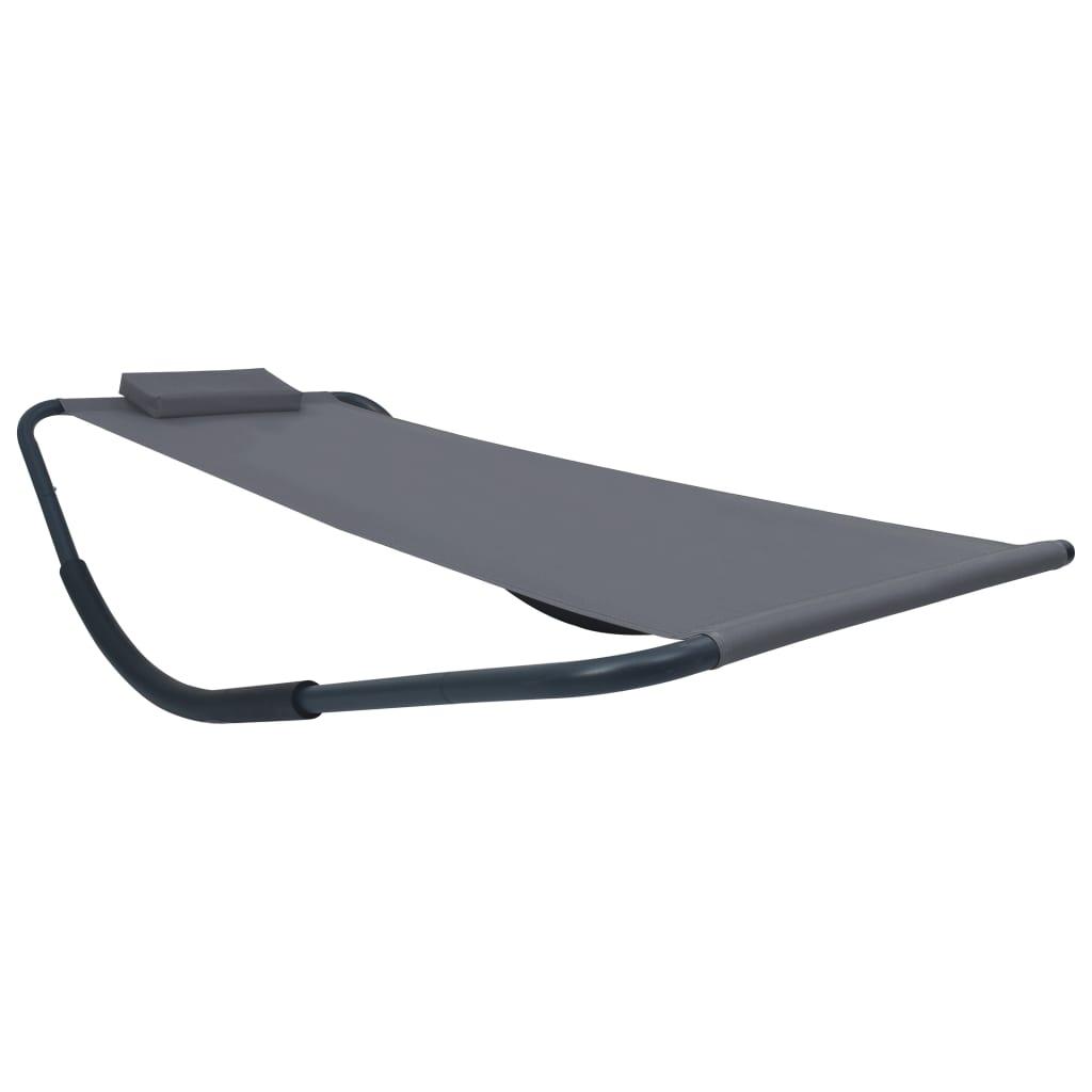 vidaXL Záhradná posteľ šedá 200x90 cm oceľová