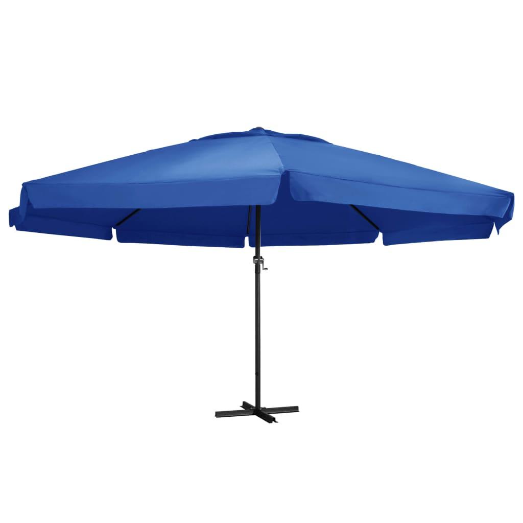 vidaXL Vonkajší slnečník s hliníkovou tyčou 600 cm, azúrovo modrý