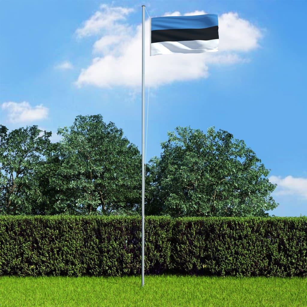 vidaXL Vlajka Estónsko 90x150 cm