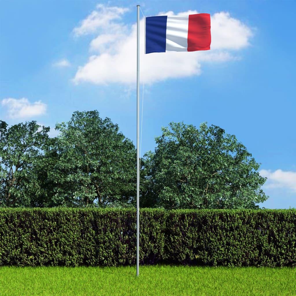 vidaXL Vlajka Francúzsko 90x150 cm
