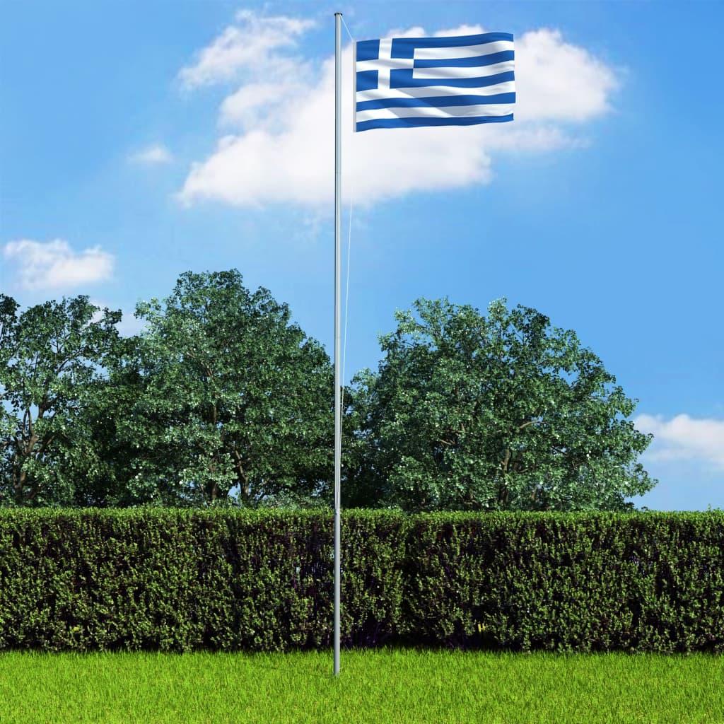 vidaXL Vlajka Grécko 90x150 cm