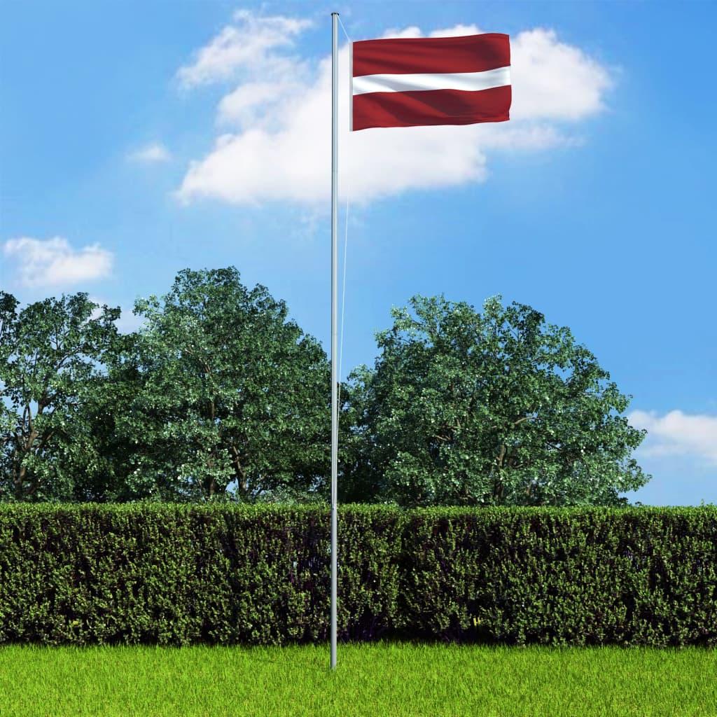 vidaXL Vlajka Lotyšsko 90x150 cm