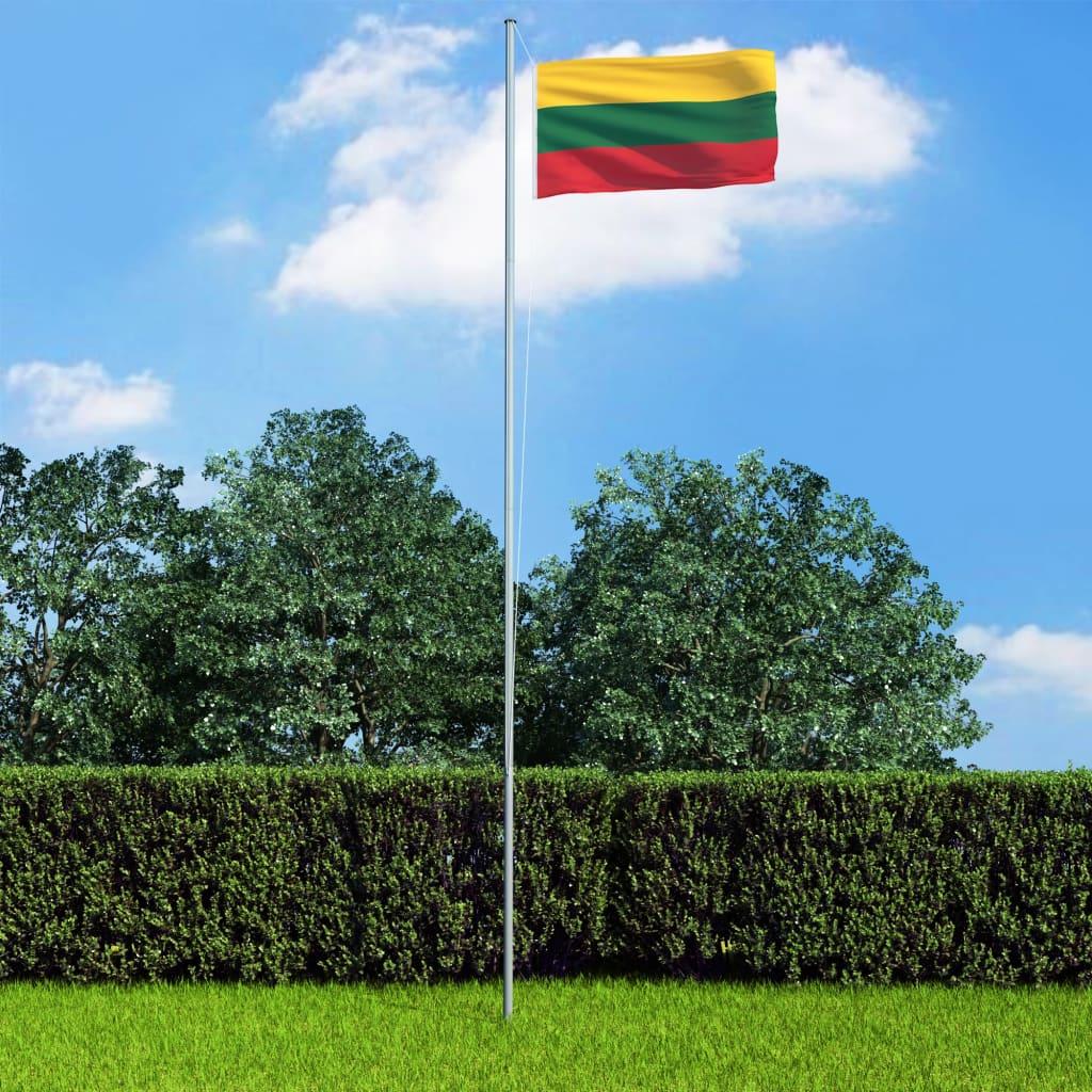 vidaXL Vlajka Litva 90x150 cm