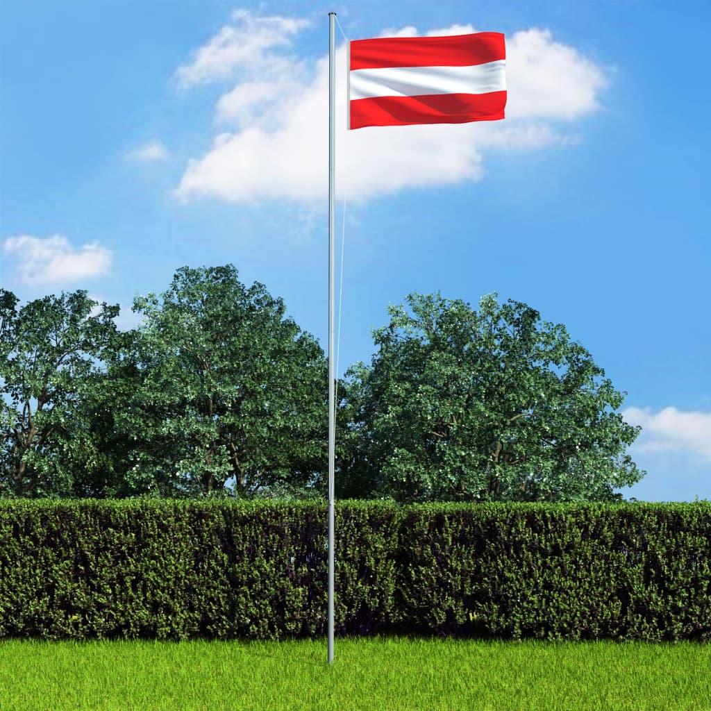 vidaXL Vlajka Rakúsko 90x150 cm