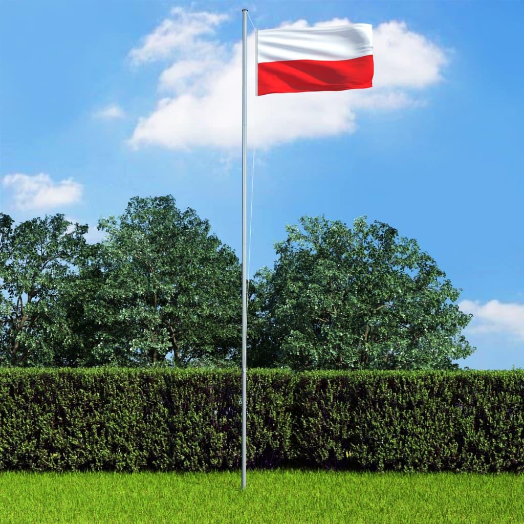 vidaXL Vlajka Poľsko 90x150 cm
